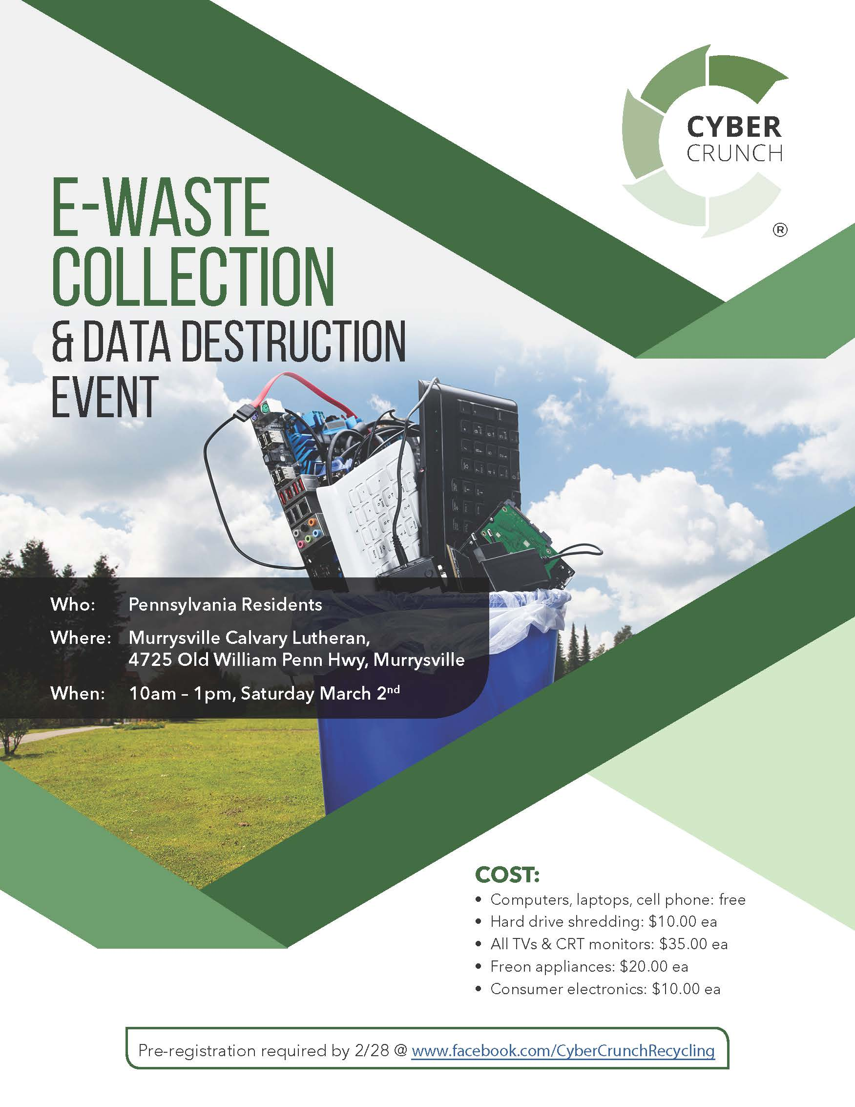Murrysville E-Waste Collection Flyer