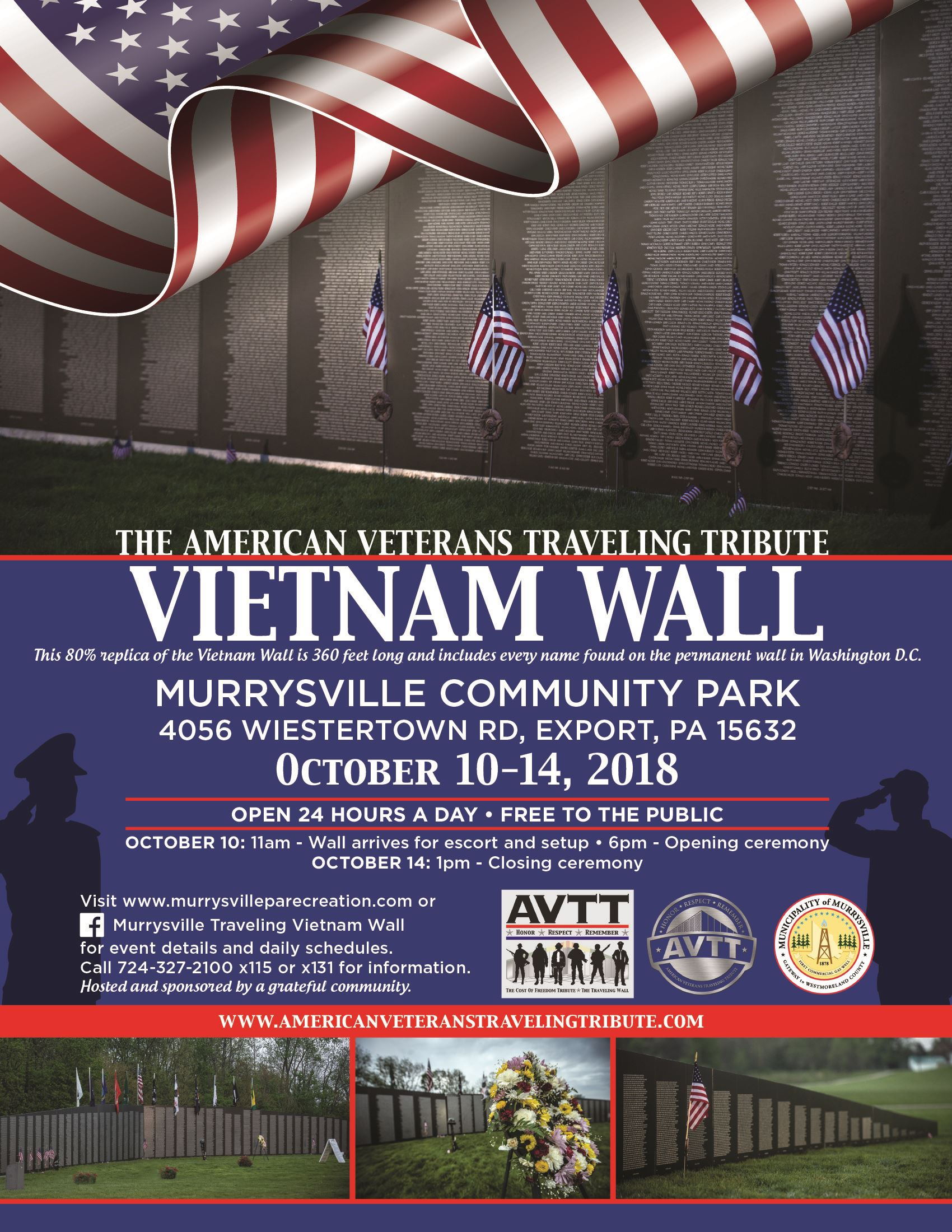 Traveling Vietnam Wall flyer